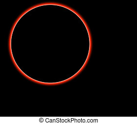 Planet isolated over black background
