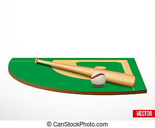 Symbol of a baseball game and field - Symbol of a baseball...