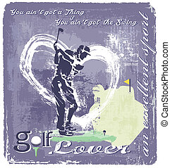 Golf Swing - Golf vector art for shirt printed and poster