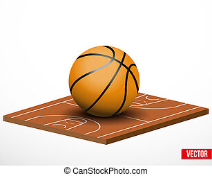 Symbol of a basketball game and field.