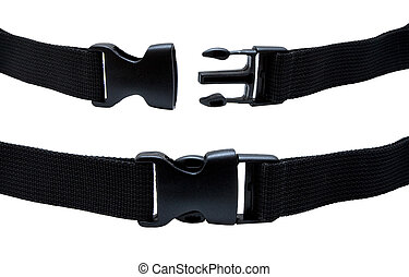 Plastic buckle isolated