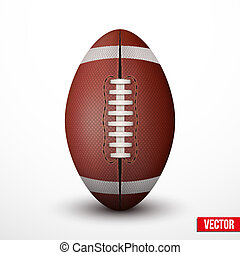 American Football ball isolated on a white background...