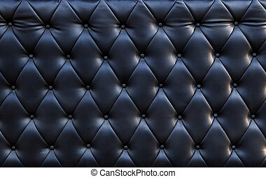close up of blackish luxury sofa leather texture use as...