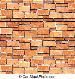 Brick wall seamless background Vector illustration Texture...