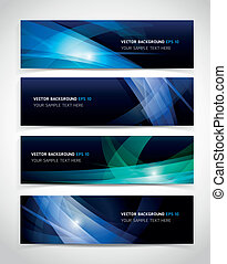 Banner abstract color background. Vector illustration.
