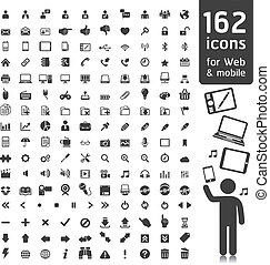 162 Icons for Web