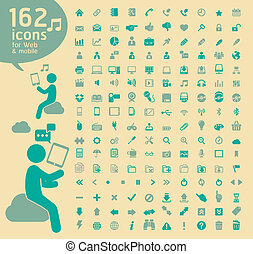 162 Retro color Icons for Web - 162 Retro color Icons for...