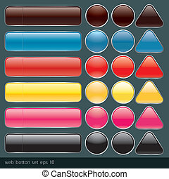 Blank buttons for website and app Vector illustration