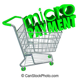 Micro Payments Shopping Cart Buy Send Money Digital Store