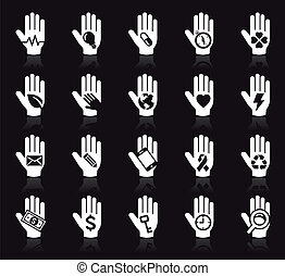 Hand concept icons.