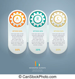 Color Gears Infographics Number.