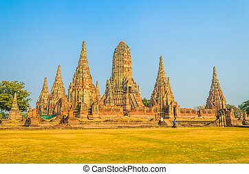 Wat Chai Watthanaram temple in ayutthaya Thailand