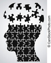 head puzzle - the concept background of head puzzle