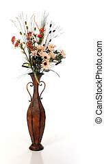 Tall Vase of Foliage - A tall vase filled with fall flowers...