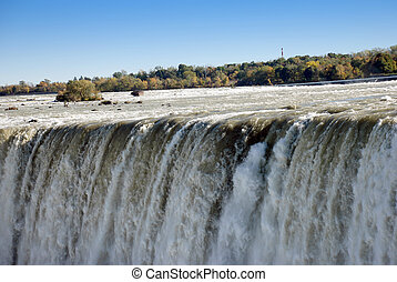 Niagara Falls Ontario Canada - Falling water background...