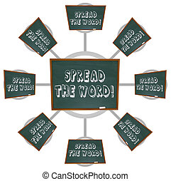 Spread the Word - Chalkboard - The phrase Spread the Word...