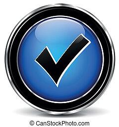 Vector blue check mark