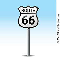 Vector road 66 signpost - Vector illustration or 66 road...