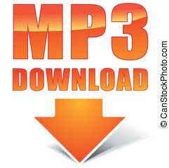 Vector orange mp3 icon