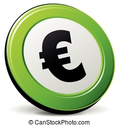 Vector euro sign - Vector illustration of euro sign on white...