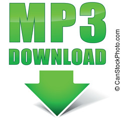 Vector mp3 green icon