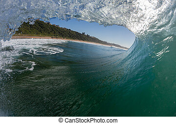 Wave Inside Out Water - Ocean wave inside out surfing...