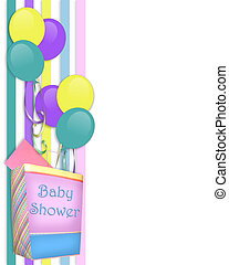 Baby Shower invitation Border - Image and illustration...