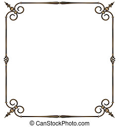 wrought-iron frame - vector illustratoin wrought -iron frame...