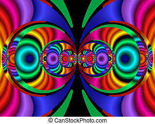 Stereo Colors, fractal40a - Stereo Colours. Abstract...