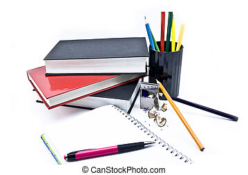 Pens and books