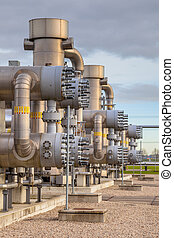 Natural gas field - Modern natural gas plant in the...