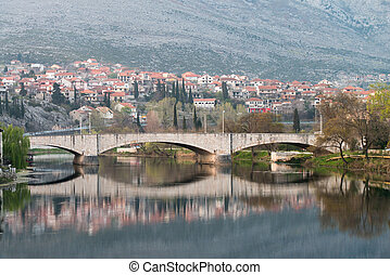 Trebinje Old Bridge On The River Trebisnjica