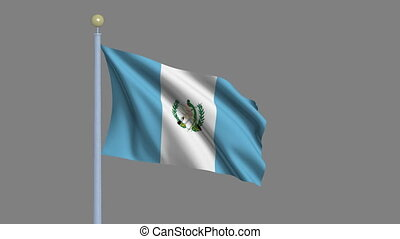 Flag of Guatemala with alpha matte - Flag of Guatemala...
