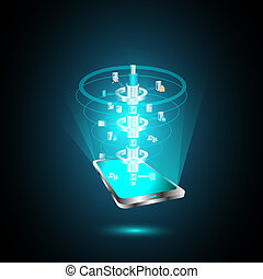 Mobile technology trends in SOA - This vector illustrates...