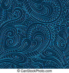 Decorative floral ornamental seamless pattern - Abstract...