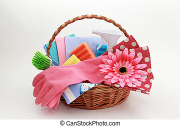 Tools for cleaning in the basket