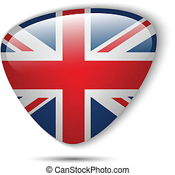UK Flag Glossy Button