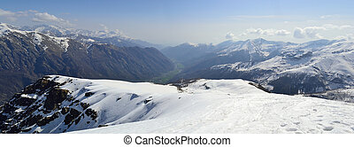 Aerial view of the Alps