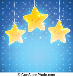 Star background Good night vector illustration - Cute Star...