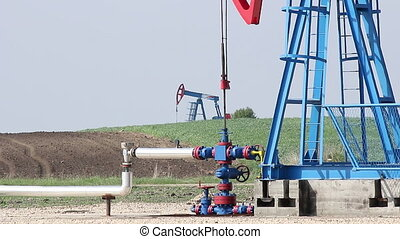 oil pump jack close up