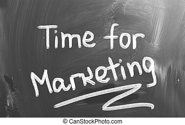 Time For Marketing Concept