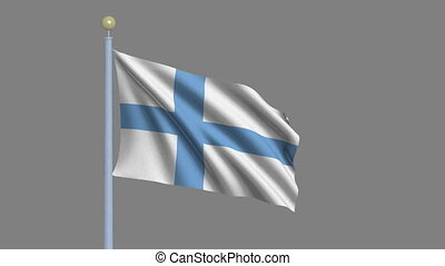 Flag of Finland with alpha matte