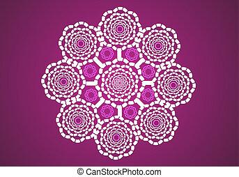 Print - Vector lace circle graphi