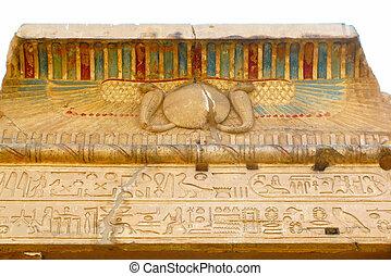 Temple of Kom Ombo, Egypt: polychromed carvings