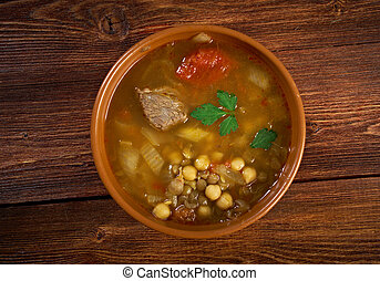 Moroccan traditional soup - harira, the traditional Berber...