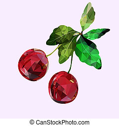 cherry Polygonal