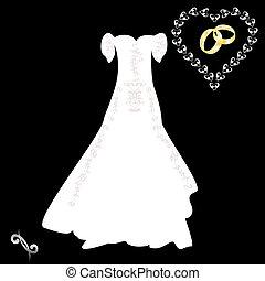 wedding dress pink pattern on a bla