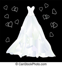 wedding dress with ruffles wedding