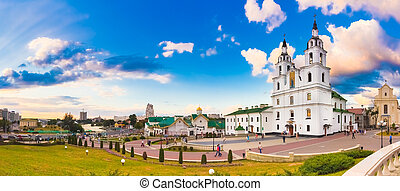 The cathedral of Holy Spirit in Minsk, Belarus - The...