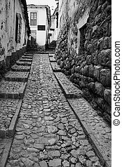 Narrow street - Old narrow street in the center part of...